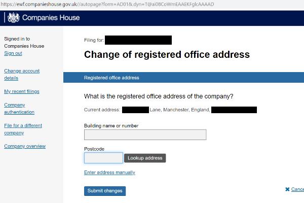 change address2